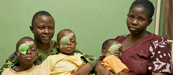 The Oyerinde Family after surgery