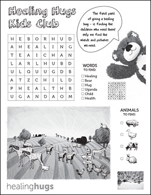 Kids Activity Word Search