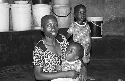 Ncube with her children