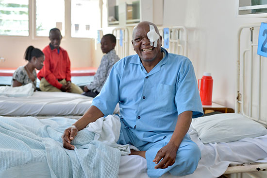Omari after cataract surgery, smiling