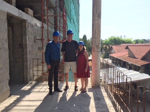 Erwin Telemans, CEO of CCBRT (left) with Ben and Mary Sybring.