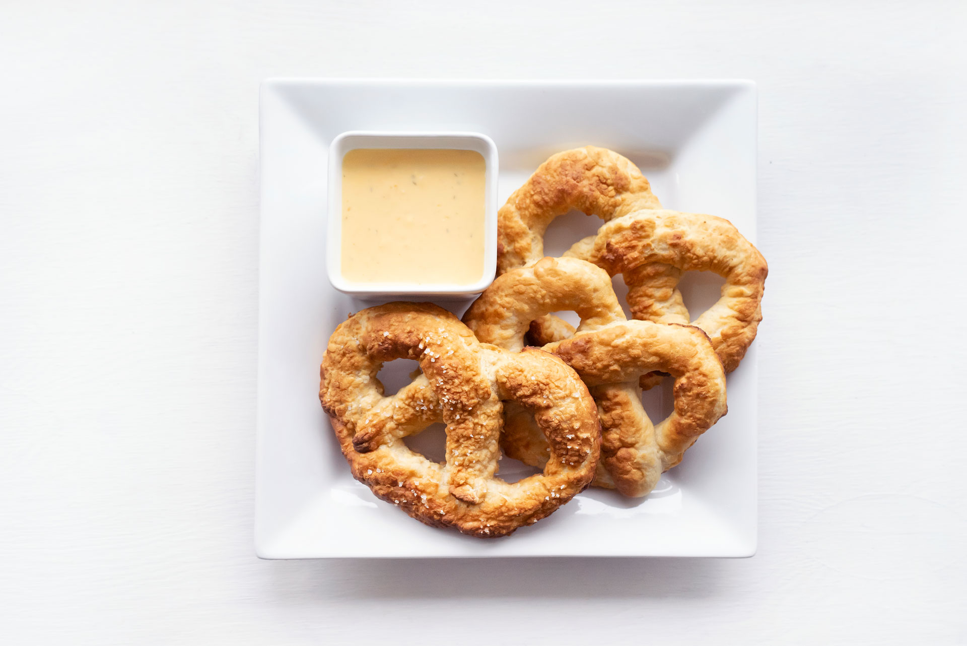 Soft Pretzels with a Cheese Sauce