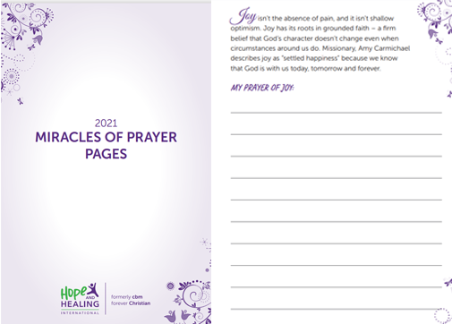 Prayer pages